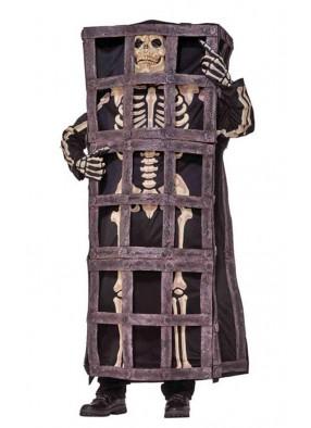 Костюм скелета в клетке