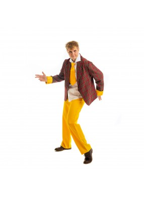 Костюм стиляги с желтыми полосками