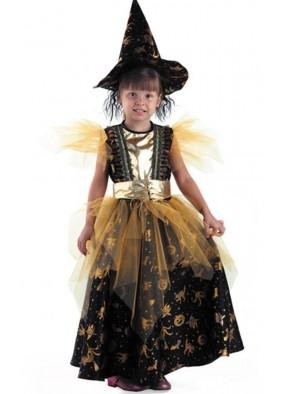 Костюм ведьмы золотой фото