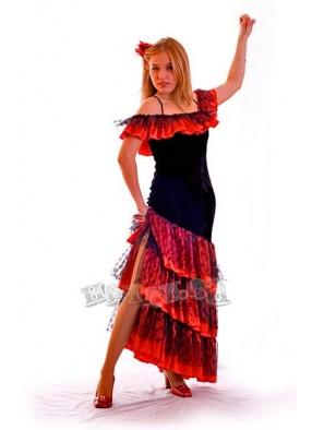 Костюм танцовщицы фламенко люксовый