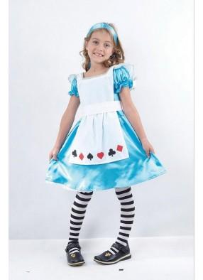 Костюм Алисы из страны Чудес для девочки