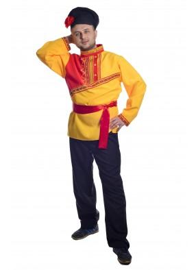 Костюм барин в желтой рубахе