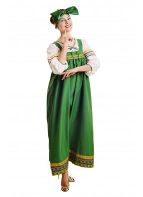 Костюм барыня в зеленом сарафане женский фото