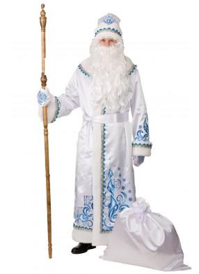 Костюм белого Деда Мороза