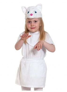 Костюм белой кошечки облегченный