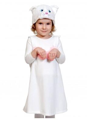 Костюм белой кошечки плюшевый