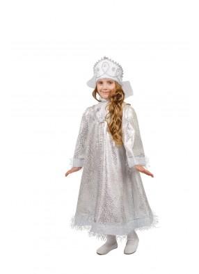 Костюм белоснежной снегурочки для девочки