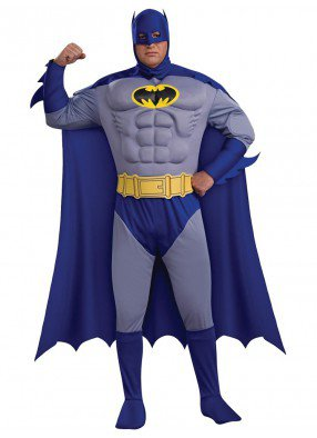 Костюм Бэтмен с мускулами deluxe взрослый