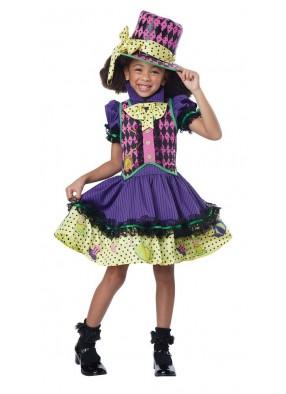 Костюм безумной шляпницы для девочки Люкс