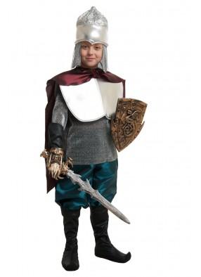 Костюм богатыря Ильи Муромца для мальчика с мечем и щитом