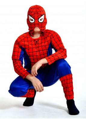 Костюм человека-паука с мускулами