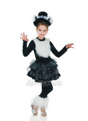 Костюм черно-белой кошечки