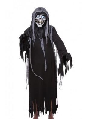 Костюм черный скелет в лохмотьях