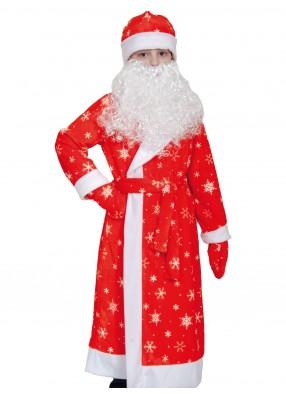 Костюм Дед Мороз для детей плюшевый