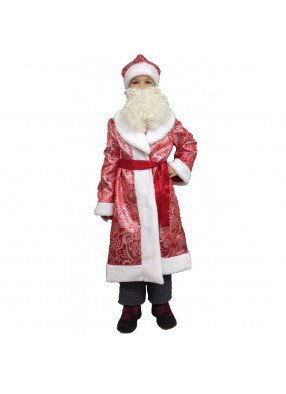 Костюм Дед Мороз подростковый узорчатый фото