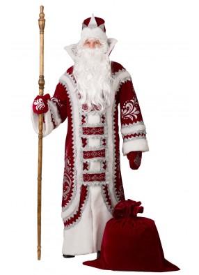 Костюм Дед Мороза Купеческого бордо