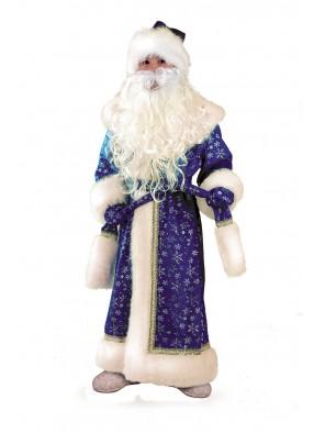Костюм Деда мороза детский синий плюш