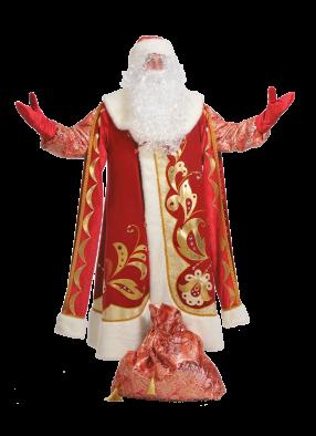 Костюм  Деда Мороза хохломой взрослый