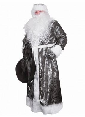 Костюм Деда Мороза жаккардовый черный