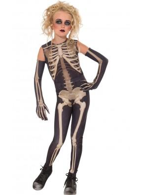 Костюм девочки скелета подземелий