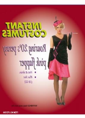 Костюм девушки 20-х розовый