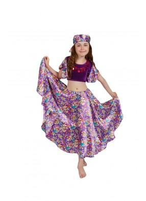 Костюм фиолетовой цыганки для девочки