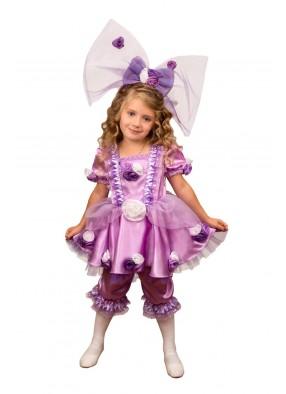 Костюм фиолетовой куклы для девочки