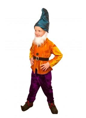 Костюм гномика в оранжевом для мальчика
