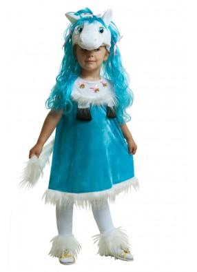 Костюм голубой пони для девочки