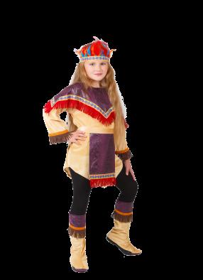 Костюм индейца девочки