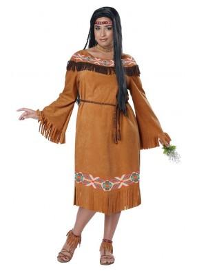 Костюм индианки большого размера