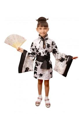 Костюм китаянки в белом для девочки