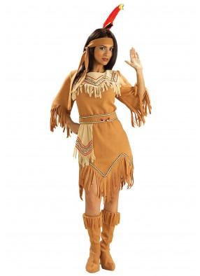 Костюм коренной американки бежевый фото