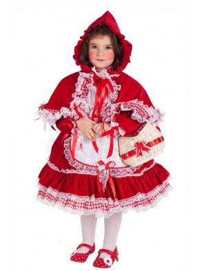 Костюм Красная шапочка роскошная детский фото
