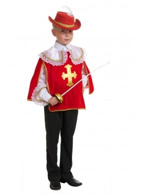 Костюм красного мушкетера для мальчика