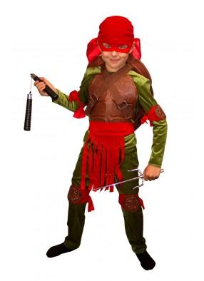 Костюм красной черепашки-ниндзя для мальчика