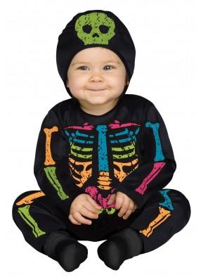 Костюм малыша-скелетона цветной фото