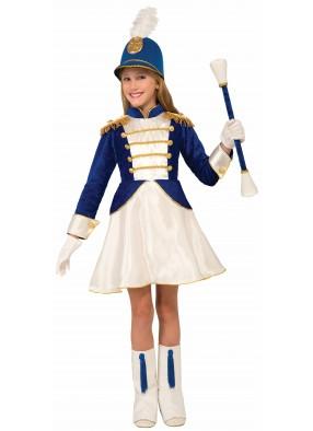 Костюм Мажоретка в синем платье детский