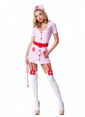 Костюм медсестрички розовый