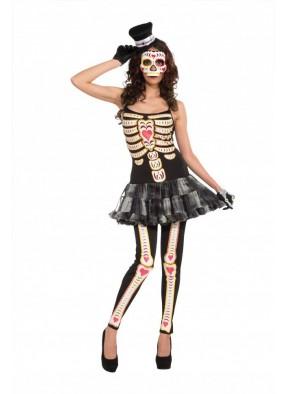 Костюм мисс скелет на День мертвецов