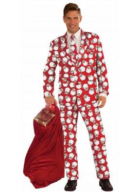 Костюм Модный Санта в красном взрослый