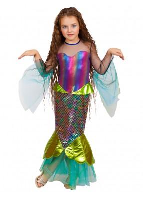 Костюм морской Русалочки с ободком для девочки