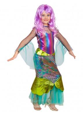 Костюм морской Русалочки с париком для девочки