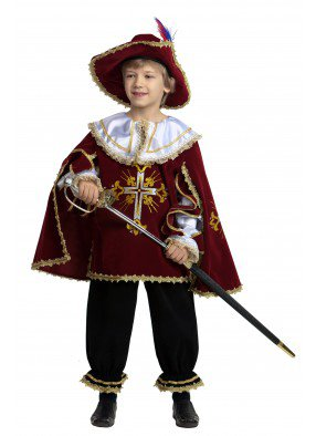 Костюм мушкетера для мальчика бордо