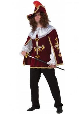 Костюм мушкетера взрослый - бордо