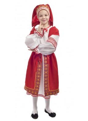 Костюм народный с красной поневой детский фото