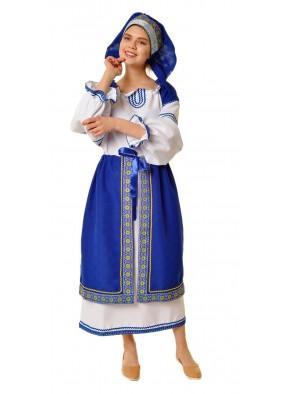 Костюм народный с синей поневой женский фото