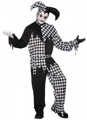 Костюм ночного клоуна Арлекина