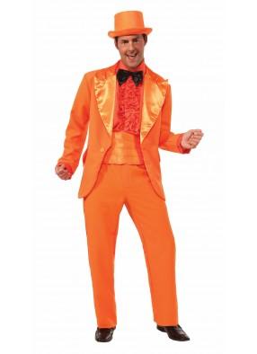 Костюм оранжевый смокинг фото