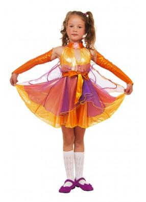 Костюм оранжвой феи стрекозы для девочки